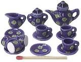 ミニチュア 陶器◆可愛いティータイムセット2【ミニチュア小物・ドールハウス】