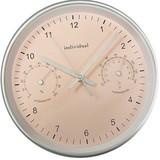 【温度&湿度が測れる】IDV サーモメータクロック 掛け時計