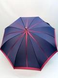 【通年新作】雨傘・長傘-婦人 甲州織先染中ボーダー軽量金骨ジャンプ日本製雨傘