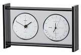 《ギフトにも最適》【高品質温湿度計・時計】スーパーEXギャラリー温・湿度・時計