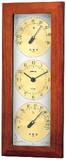 【温湿度計付時計】ウェザータイム温度・時計・湿度計