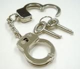 Miniature Handcuffs Nickel Nickel