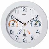 【快適計・温湿度計付き掛け時計】トキメクス快適計