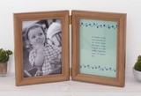 Gift Wide Wooden Double Photo Frame