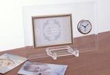 【ギフト・記念品に大変、お勧め】時計付きガラスフォトフレーム