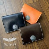 【quitter】人気商品3色展開ウォッシュレザー☆quitterコンチョコインケース