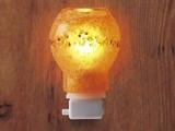 【アロマランプコンセント型!手づくりガラス】 癒しのランプ(橙)Sコンセントタイプ