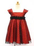 【在庫一掃セール!】キッズドレス9065レッド