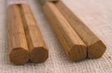 人気シリーズ★【マロン箸】栗の木の箸<つまみやすい先角>