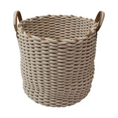 Laundry Basket Rope Round Bottom Storage Interior Accessory Bath Product