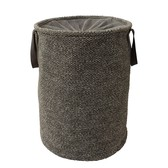 Laundry Basket Knitted Gray Interior Accessory Bath Product