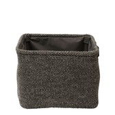 Laundry Basket Knitted Gray Square Interior Accessory Bath Product