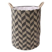 Laundry Basket Herringbone Interior Accessory Bath Product