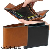 Buffalo Leather Clamshell Wallet