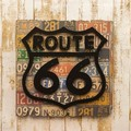 "Old New シリーズ[プレート""ROUTE66""]<アメリカン雑貨>"
