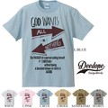 "【DEEDOPE】""GOD WANT ALL OR NOTHING"" 半袖 プリント Tシャツ 綿100% カットソー"