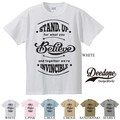 "【DEEDOPE】""STAND UP FOR WHAT YOU BELIEVE"" 半袖 プリント Tシャツ"