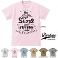 "【DEEDOPE】""MY THOUGHTS ARE STARS"" 半袖 プリント Tシャツ 綿100% カットソー"