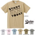 "【DEEDOPE】""START THAT THING TODAY"" 半袖 プリント Tシャツ 綿100% カットソー"