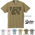"【DEEDOPE】""MY ATTITUDE IS BASED ON WOW YOU TREAT ME"" 半袖 プリント Tシャツ"
