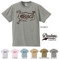 "【DEEDOPE】""PEACE"" 半袖 プリント Tシャツ"