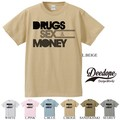 "【DEEDOPE】""DRUGS SEX MONEY"" 半袖 プリント Tシャツ 綿100% カットソー"