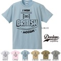 "【DEEDOPE】""BRITISH ACCENT"" 半袖 プリント Tシャツ 綿100% カットソー"