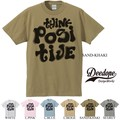 "【DEEDOPE】""THINK POSITIVE"" 半袖 プリント Tシャツ 綿100% カットソー ポジティブ"