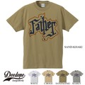 "【DEEDOPE】""FATHER"" 半袖 プリント Tシャツ"