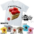"【DEEDOPE】 ""a SPECIAL FEVARITE III""  半袖 プリント Tシャツ 綿100% カットソー スイーツ ケーキ"