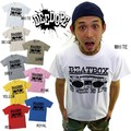 "【DEEDOPE】 BEAT BOX"" 半袖 プリント Tシャツ 綿100% カットソー"