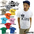 "【DEEDOPE 】""KING"" 半袖 プリント Tシャツ 綿100% カットソー"