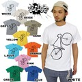 "【DEEDOPE】 ""BYCICLE"" 半袖 プリント Tシャツ 綿100% カットソー 自転車"