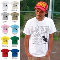 "【DEEDOPE】""LOVE ROCK FES"" 半袖 プリント Tシャツ 綿100% カットソー ロック フェス"