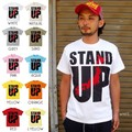 "【DEEDOPE】""STAND UP"" 半袖 プリント Tシャツ 綿100% カットソー 日本 立ち上がれ"