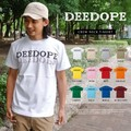 "【DEEDOPE】""DEEDOPE LOGO"" 半袖 プリント Tシャツ 綿100% カットソー ロゴ"