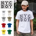 "【DEEDOPE】""NY C BOY"" 半袖 プリント Tシャツ 綿100% カットソー"