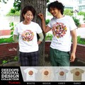 "【DEEDOPE】""SMAIL FLOWER""  半袖 プリント Tシャツ 綿100% カットソー スマイル にこちゃん"