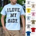 "【DEEDOPE】""I LOVE MY BABY"" 半袖 プリント Tシャツ 綿100% カットソー ビックロゴ"