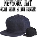 NEWYORK HAT #6261 DENIM STITCH TRUCKER 13507