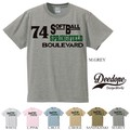 "【DEEDOPE】  ""74 SOFT BALL"" 半袖 プリント Tシャツ 綿100% カットソー"