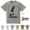 "【DEEDOPE】  ""SKATEING"" 半袖 プリント Tシャツ 綿100% カットソー"