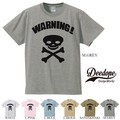 "【DEEDOPE】  ""WARNING!"" 半袖 プリント Tシャツ 綿100% カットソー"