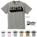 "【DEEDOPE】  ""SEATTLE"" 半袖 プリント Tシャツ 綿100% カットソー"
