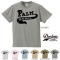 "【DEEDOPE】  ""PALM BEACH"" 半袖 プリント Tシャツ 綿100% カットソー"