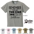 "【DEEDOPE】  ""REMENBER YOU ARE THE ONE"" 半袖 プリント Tシャツ 綿100% カットソー"