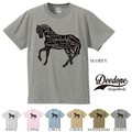 "【DEEDOPE】  ""HORSE"" 半袖 プリント Tシャツ 綿100% カットソー"