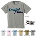 "【DEEDOPE】  ""CRAFTED JEANS"" 半袖 プリント Tシャツ 綿100% カットソー"