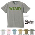 "【DEEDOPE】  ""WEARY"" 半袖 プリント Tシャツ 綿100% カットソー"