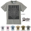 "【DEEDOPE】  ""LIFE GOES ON AND ON"" 半袖 プリント Tシャツ 綿100% カットソー"